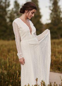 Vestido de novia Cotonnus hecho a medida en Madrid Aurora Boreal